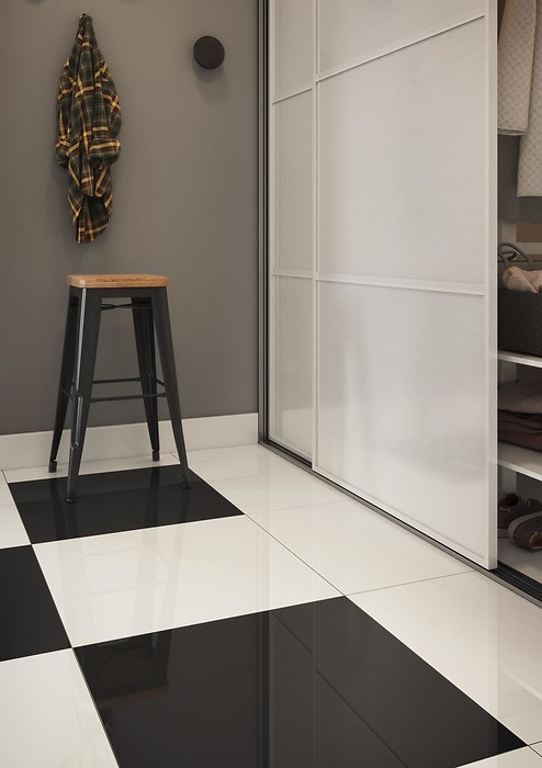 UNIVERSAL FLOORS POLER BLACK AND WHITE 2