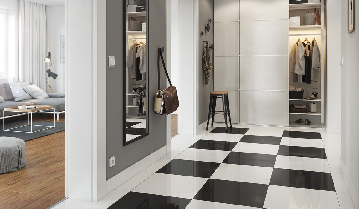 UNIVERSAL FLOORS POLER BLACK AND WHITE 1