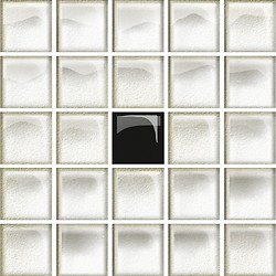 Glass White/Black Mosaic A New
