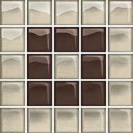 Glass Beige/Brown Mosaic B New