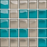 Glass Azure/Dark Beige Mosaic D New